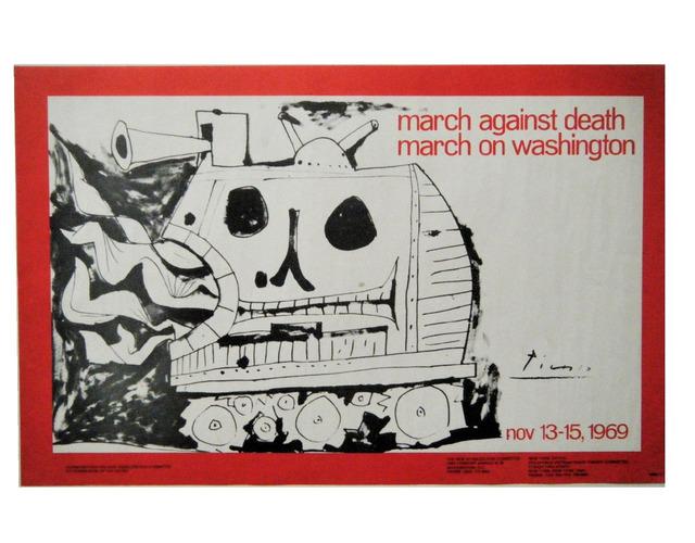 "Pablo Picasso, '""March Against Death-March on Washington"", 1969, Poster, Lithograph on Paper.', 1979, VINCE fine arts/ephemera"