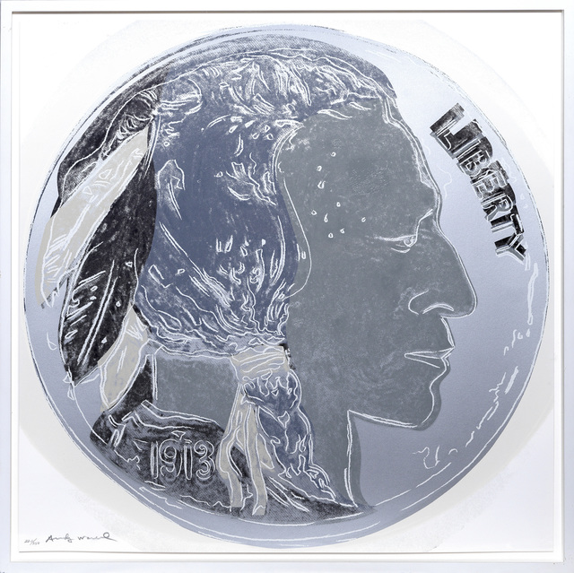 Andy Warhol, 'Indian Head Nickel', 1986, Print, Screenprint in colours., Sims Reed Gallery