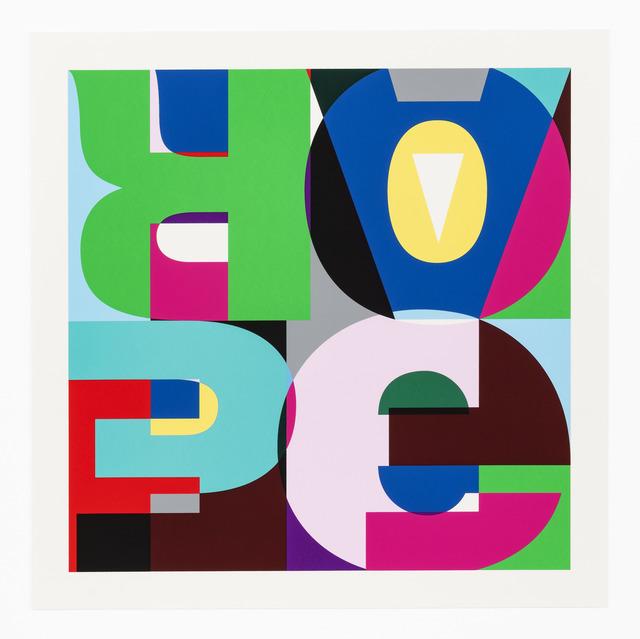 , 'HEIMO ZOBERNIG (Austrian, born 1958)Hope Fear Fade, 2018,' 2018, The Bonfoey Gallery