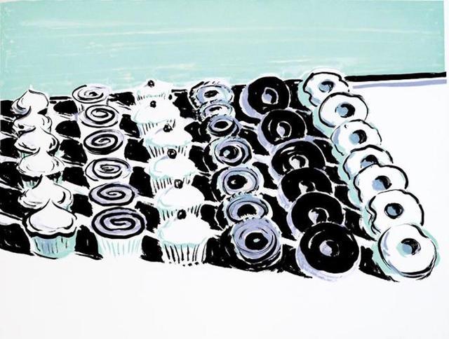 Wayne Thiebaud, 'Cupcakes and Donuts', 2006, Cynthia Drennon Fine Arts