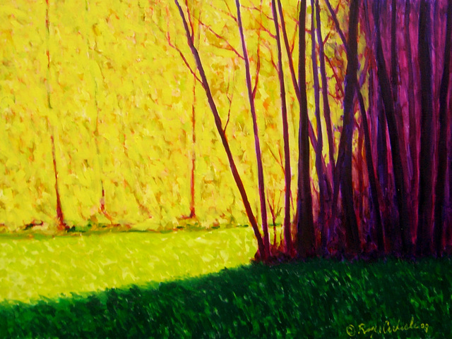 , 'Trees in Sunlight and Shadow,' 2009, Greg Thompson Fine Art