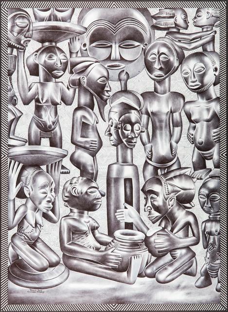 , 'Sans titre,' 2015, Africa Bomoko