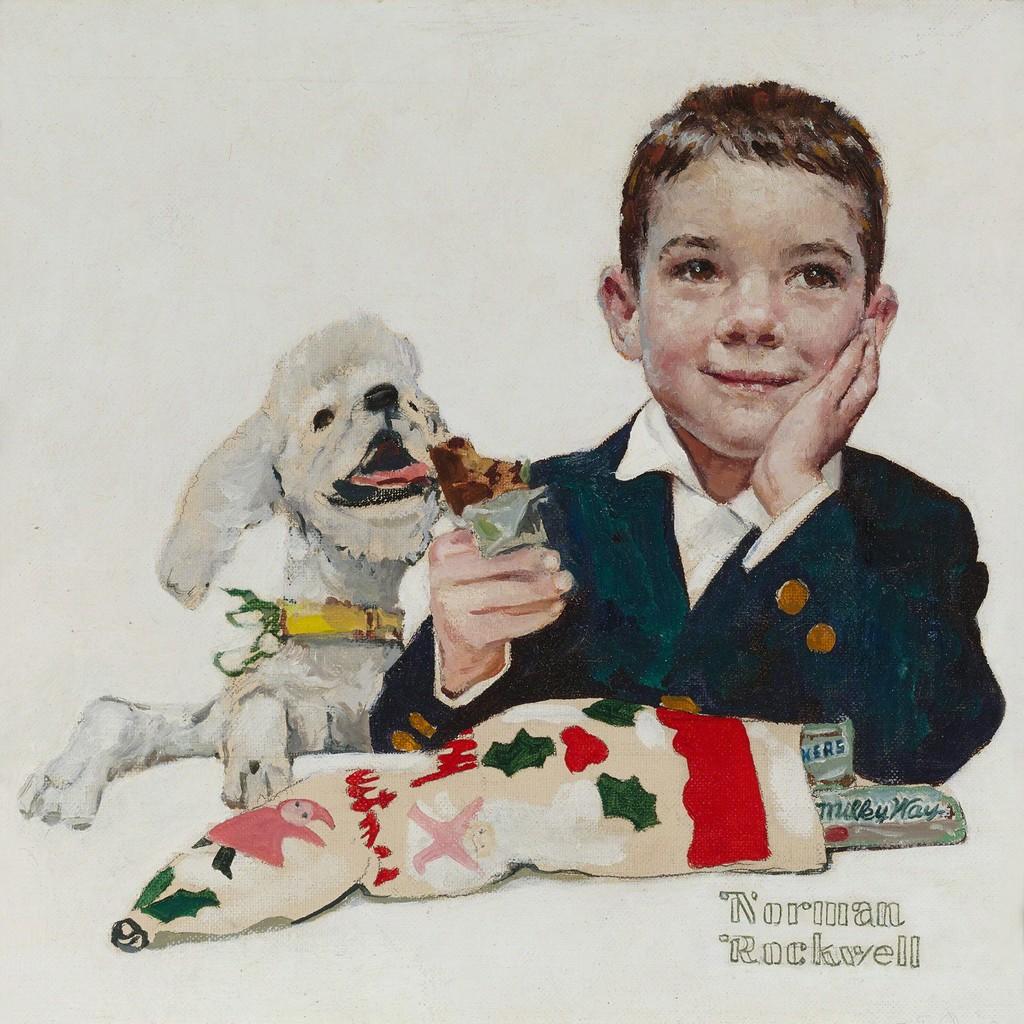 Norman Rockwell | Mars Candy Company Christmas Card (ca. 1960) | Artsy