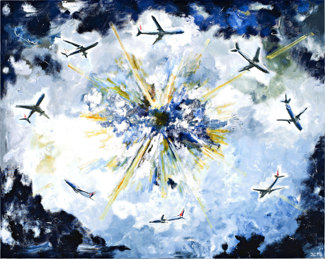 , 'Boucle d'attente dans le néant (Holding pattern in the void),' 2015, Galerie Eva Meyer