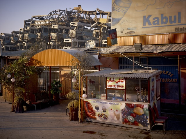 , 'Kabul 'Pizza Express' Restaurant Behind The Municipal Bus Depot ,' 2010, Benrubi Gallery