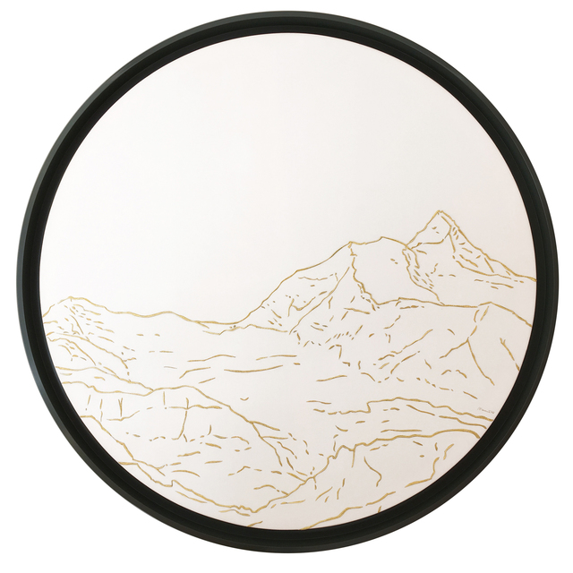 , 'Jungfrau Golden Landscapes, tapestry with gold thread ,' 2012, Philippe Cramer