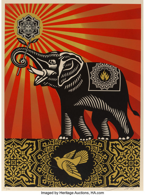 Shepard Fairey, 'Obey Elephant', 2009, Heritage Auctions