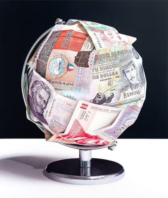 Tom Martin, 'Makes the World Go Round III', 2015, Painting, Acrylic on aluminium composite panel, Plus One Gallery