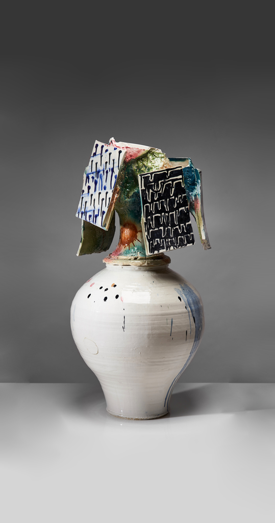 Johannes Nagel, Patterns II, 2019, Porcelain, Stoneware, 39.76h x 19.69w x 19.69d in