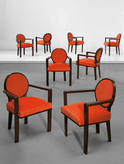 Jean Royère, 'Set of eight armchairs', ca. 1948, Phillips