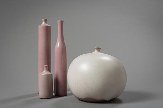 """Jacques & Dani Ruelland, '""""Vase Boule"""" &  """"Vases Bouteille""""', ca. 1960, Lebreton"""