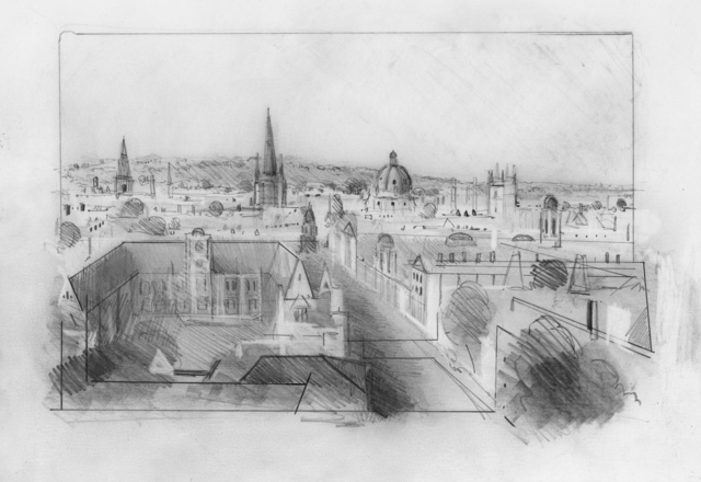 , 'Oxford Drawing #11 Oxford Skyline Study 2,' 2017, Sarah Wiseman Gallery