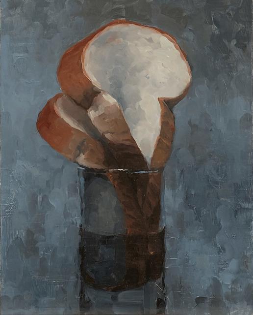 Tom Giesler, 'Floral 13: bread arrangement', 2020, Painting, Oil on panel, McVarish Gallery