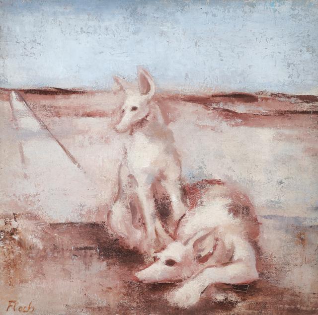 , 'Deux chiens,' 1928, W&K - Wienerroither & Kohlbacher