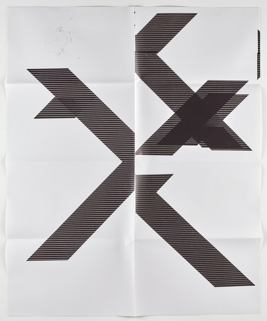 "Wade Guyton, 'X Poster (Untitled, 2007, Epson UltraChrome inkjet on linen, 84x69"", WG1210), 2018', 2018, Lougher Contemporary"