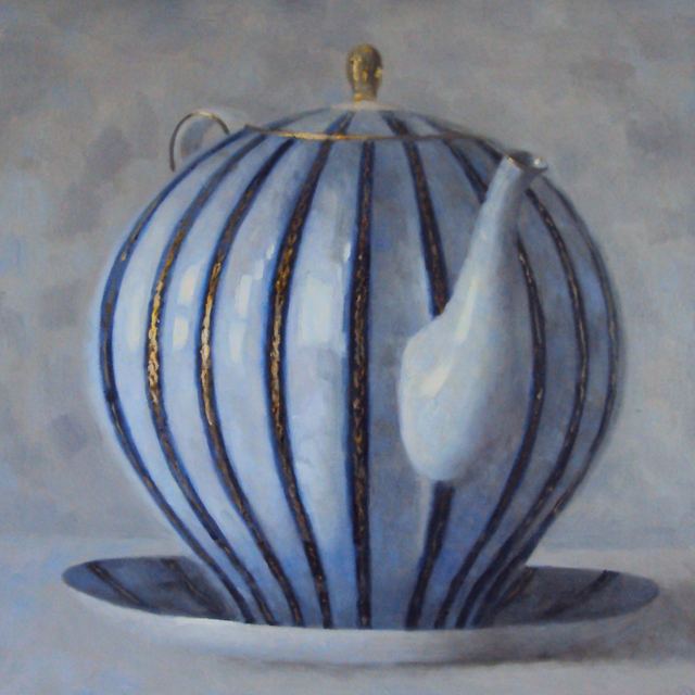 , 'Blue & Gold Teapot,' 2017, Rice Polak Gallery