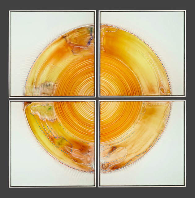Wilfried Grootens, 'After the Rainbow - H44', 2020, Painting, Glass paintings on 5 panes, glued together and mounted in stainless steel frames, HABATAT