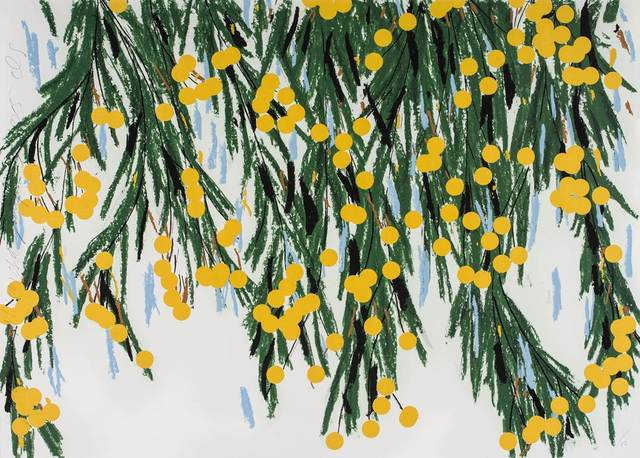 Donald Sultan, 'Yellow Mimosa, July 23, 2015', 2015, Meyerovich Gallery