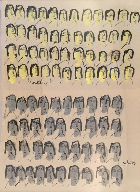 , 'My Little Happiness 28_Yellow Grey,' 2015, Art Vietnam Gallery