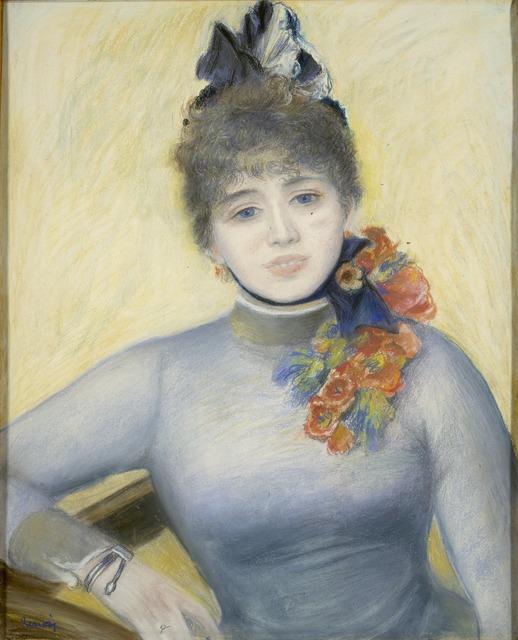 "Pierre-Auguste Renoir, 'Caroline Rémy (""Séverine"")', ca. 1885, National Gallery of Art, Washington, D.C."