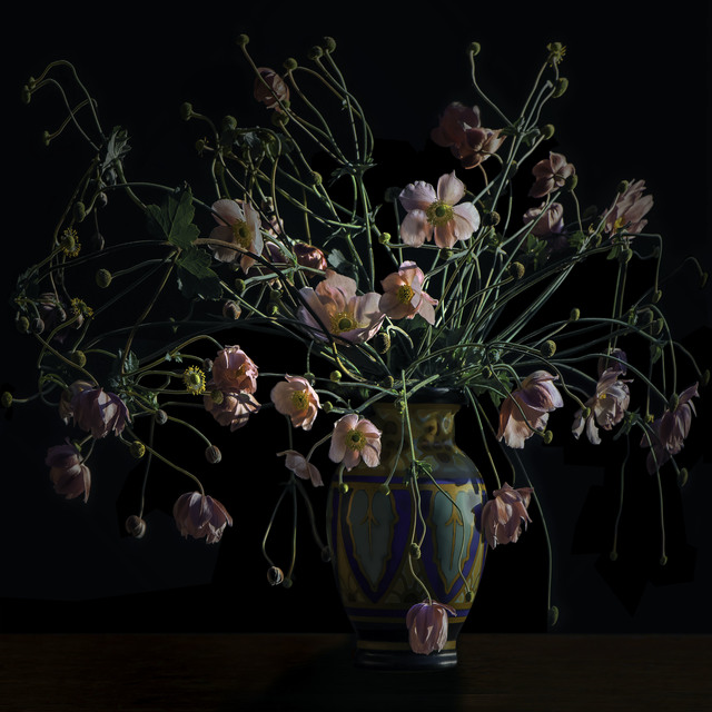 , 'Japanese Anemones in an Arts and Crafts Movement Vase,' 2017, Galerie de Bellefeuille