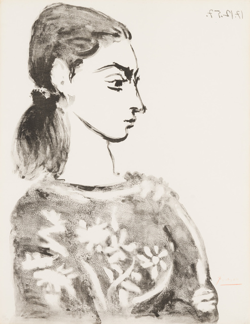 Pablo Picasso, 'Woman with Floral Bodice', 1957, Christopher-Clark Fine Art