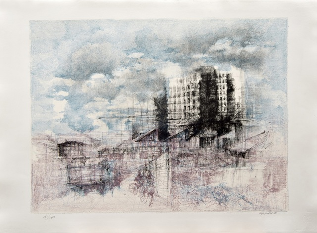 , 'Pioggia in periferia / Rain in the suburbs,' 1990, Galleria Edarcom Europa