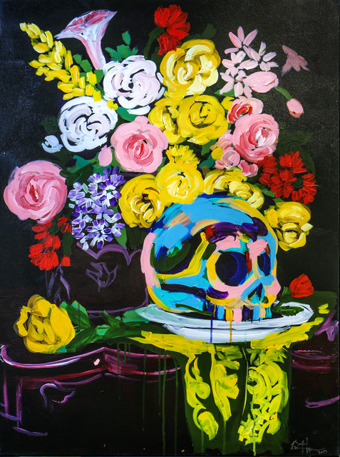 , 'Skull Flowers,' 2017, Maddox Gallery