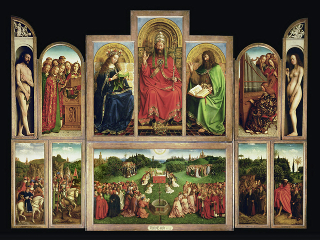 Jan van Eyck, 'The Ghent Altarpiece (also called The Adoration of the Mystic Lamb),' ca. 1423-1432, Erich Lessing Culture and Fine Arts Archive