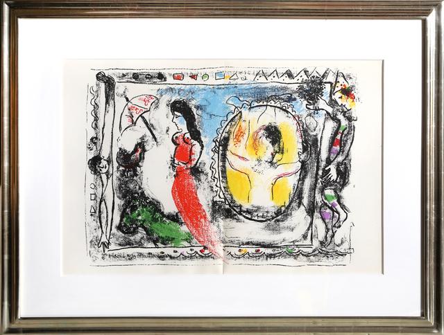 Marc Chagall, 'Femme Avec Parapluie from Derrière le Miroir', 1964, RoGallery