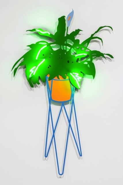 Joanna Lamb, 'Hairpin Planter with Lily (green neon)', 2015, Sullivan+Strumpf