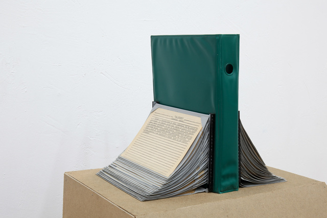 Ian Ginsburg, 'Joseph Ginsburg Card Index', 2019, Mixed Media, File with card index, typescript, reconstruction, Osnova Gallery