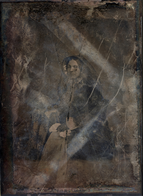 , 'Unknown Woman (no. 2); Based on a damaged 1850s/60s Daguerreotype by Mathew Brady (in the public domain, United States Library of Congress, Washington, D.C.),' 2019, Galerie Reinthaler