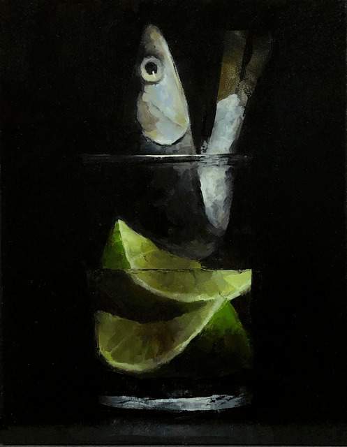 Tom Giesler, 'Floral 48: anchovy lime', 2021, Painting, Oil on panel, McVarish Gallery