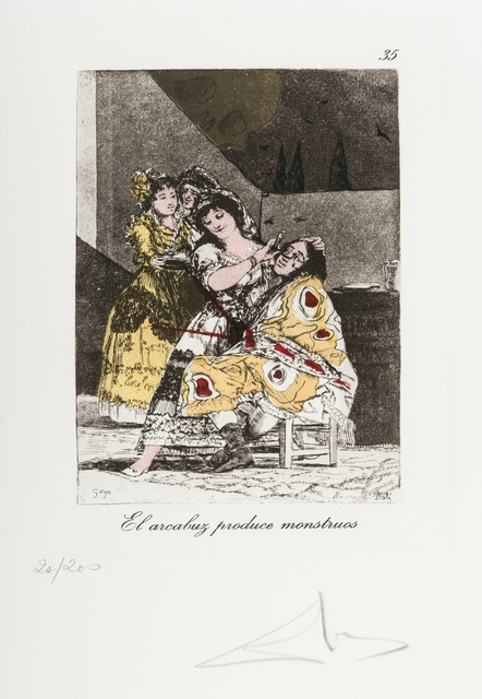 Salvador Dalí, 'Plate 35 (From Les Caprices de Goya de Dali) (M & L 882)', 1977, Forum Auctions