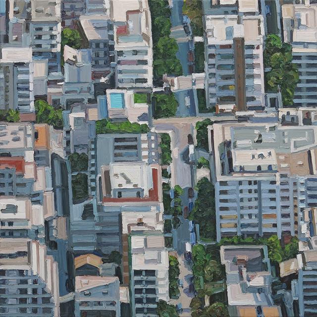 Ralph Fleck, 'Stadtbild 5/VII (Athen)', 2018, Galerie Boisseree