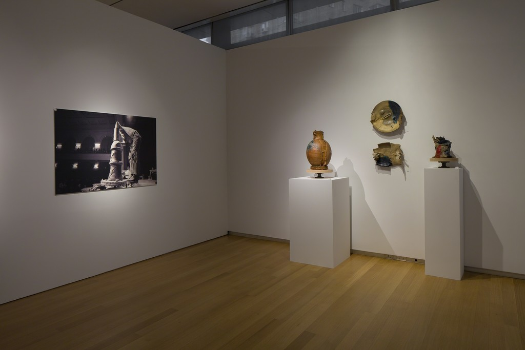 Installation view of 'Voulkos: The Breakthrough Years', 2016. Photo by Butcher Walsh. Courtesy of the Museum of Arts and Design.