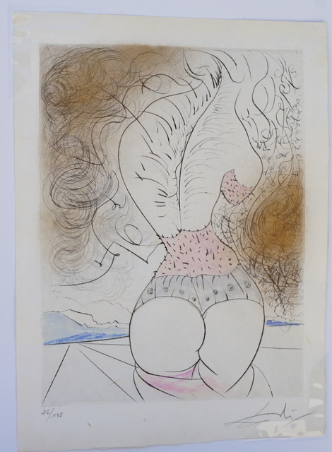 Salvador Dalí, 'La Venus aux Fourrures The Torso', 1968, Print, Etching, Fine Art Acquisitions Dali