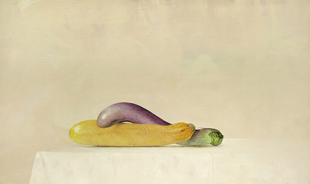 , 'Brinjal and Zucchini,' 2015, Galerie Huit