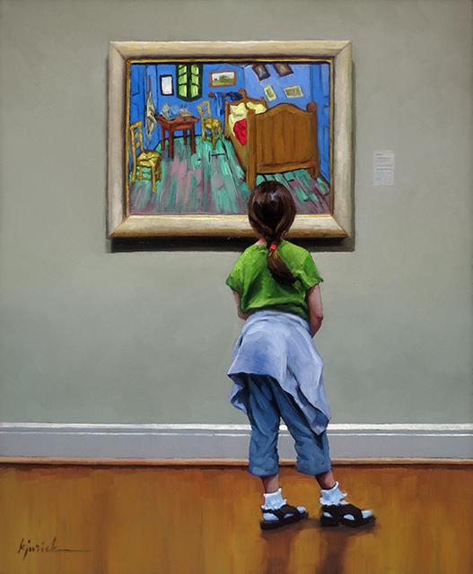 Karin Jurick, 'A Look Inside', 2019, Painting, Oil on Board, Shain Gallery