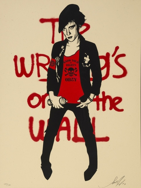 Shepard Fairey, 'Writing on the Wall (Cream)', 2010, Print, Screenprint in colours, Forum Auctions