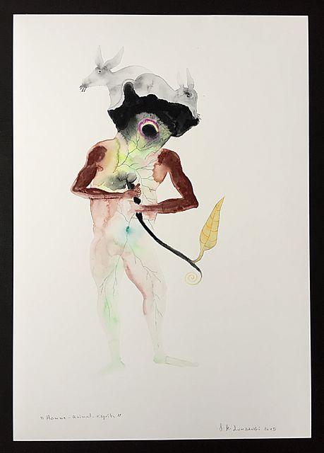 , 'Homme-animal-esprits,' 2015, Galerie Anne de Villepoix
