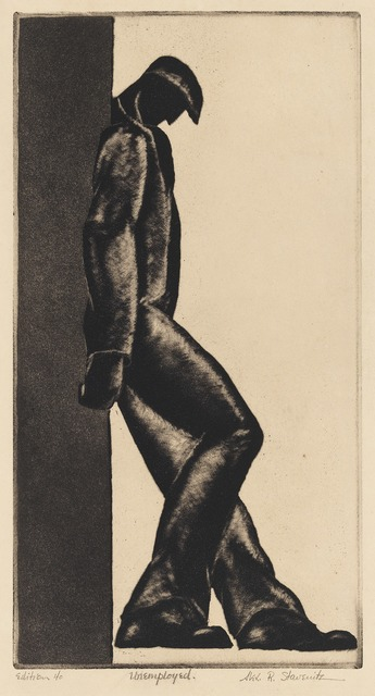 , 'Unemployed,' 1930, Grey Art Gallery
