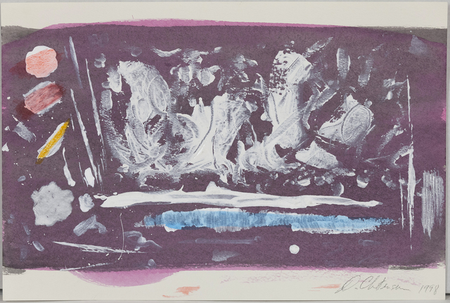 Dan Christensen, 'Grape Crush', 1998, Drawing, Collage or other Work on Paper, Acrylic and mixed-media on paper, Caviar20