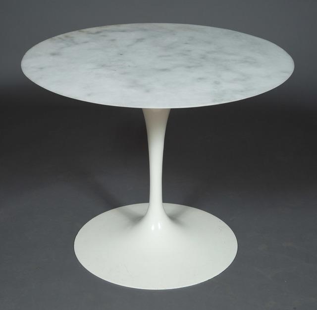 'Eero Saarinen Marble Top Enameled Metal Tulip Table', 1970s, Doyle
