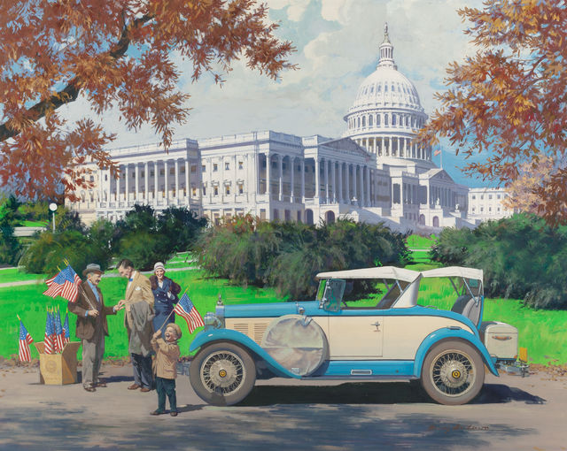Harry Anderson, 'Washington, D.C., 1928 Falcon-Knight, Great Moments in Early American Motor', The Illustrated Gallery