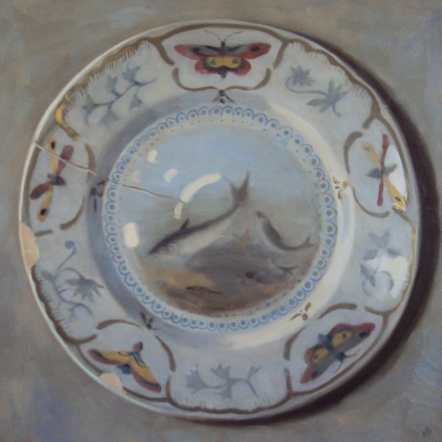 , 'Plate with fish design,' 2017, Rice Polak Gallery