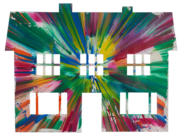 Damien Hirst, 'House Spin Painting (Created at Damien Hirst Spin Workshop)', 2009, Rago