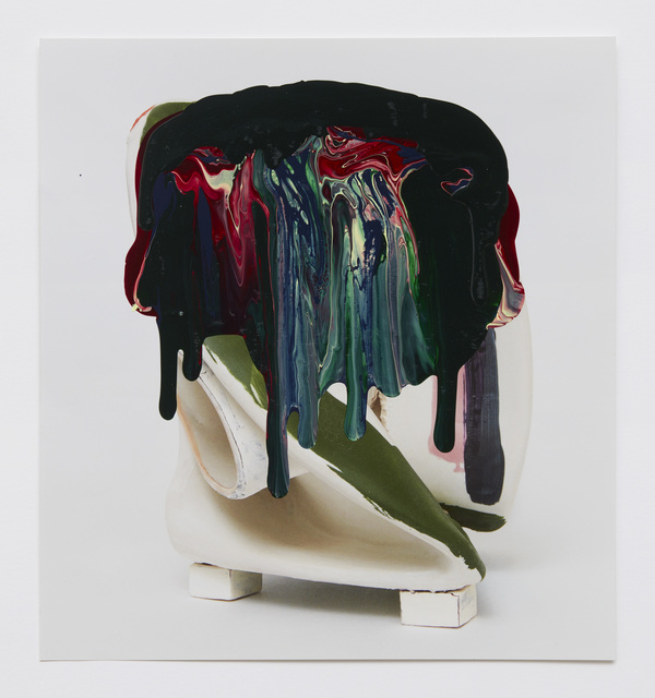 Kathy Butterly, '#10', 2020, Drawing, Collage or other Work on Paper, Nail polish on catalogue paper, Shoshana Wayne Gallery