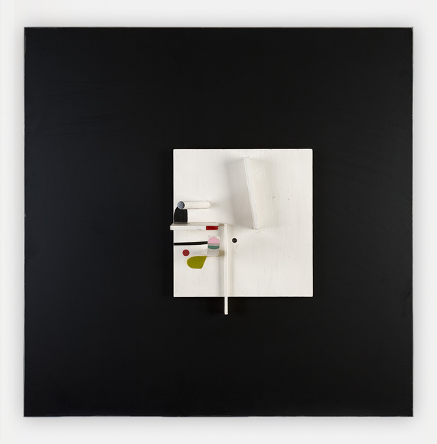 , 'Projective Relief Painting in White and Black with Pink, Green and Maroon,' 1982, Marlborough Fine Art